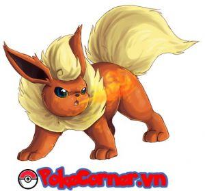 Flareon - top 6 gym attacker in Pokemon Go