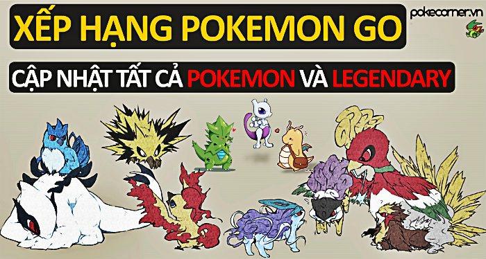 Top Pokemon công mạnh nhất Pokemon GO - Top Pokemon thủ mạnh nhất Pokemon  GO -