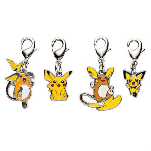 1-MC002 - Set Pikachus 2017 - Pokémon Metal Charm - Móc Khóa Pokémon - PokeCorner