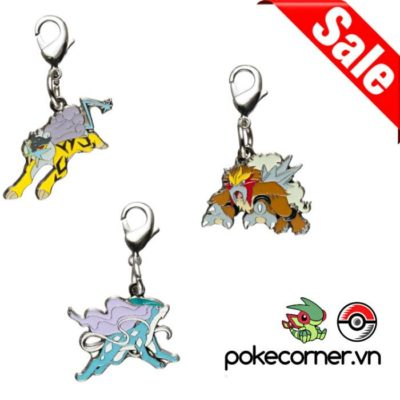 1-MC016 - Bundle Legendary Dogs - Pokémon Metal Charm - Móc Khóa Pokémon - PokeCorner
