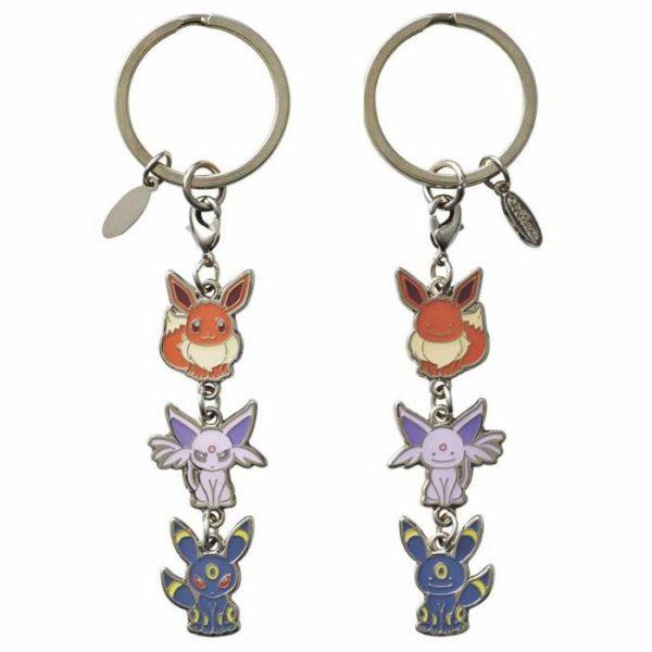 1-MC096 - Set Eevee 2 mặt #2 - Pokémon Metal Charm - Móc Khóa Pokémon - PokeCorner