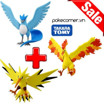 Gói Mô hình Pokémon Trio Birds