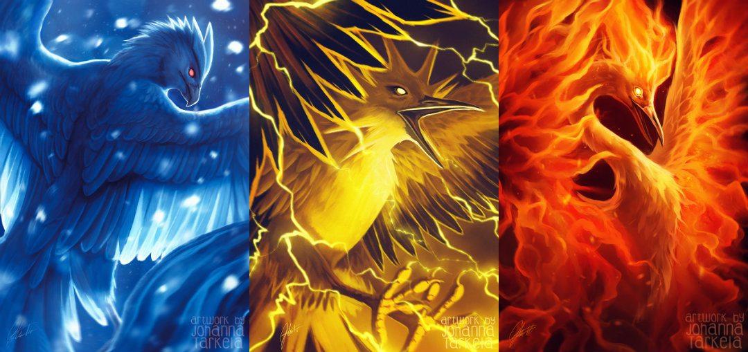 Pokémon huyền thoại Legendary Birds