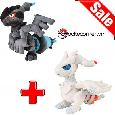 Gói Gấu bông Pokémon Zekrom & Reshiram