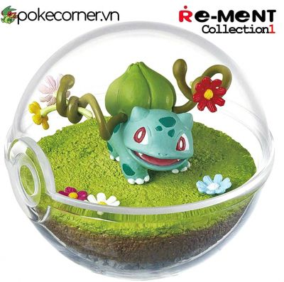 Quả Cầu Pokémon Re-Ment Pokémon Terrarium Collection 1 - Bulbasaur