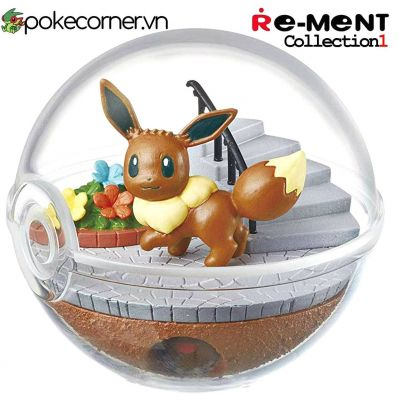 Quả Cầu Pokémon Re-Ment Pokémon Terrarium Collection 1 - Eevee & Diglett