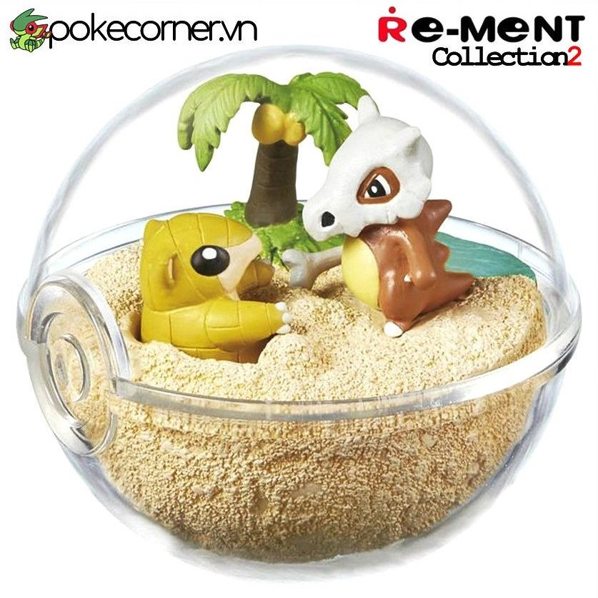 Quả Cầu Pokémon Re-Ment Pokémon Terrarium Collection 2 - Cubone & Sandshrew