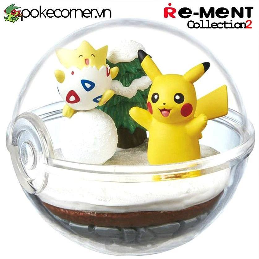Quả Cầu Pokémon Re-Ment Pokémon Terrarium Collection 2 - Pikachu & Togepi
