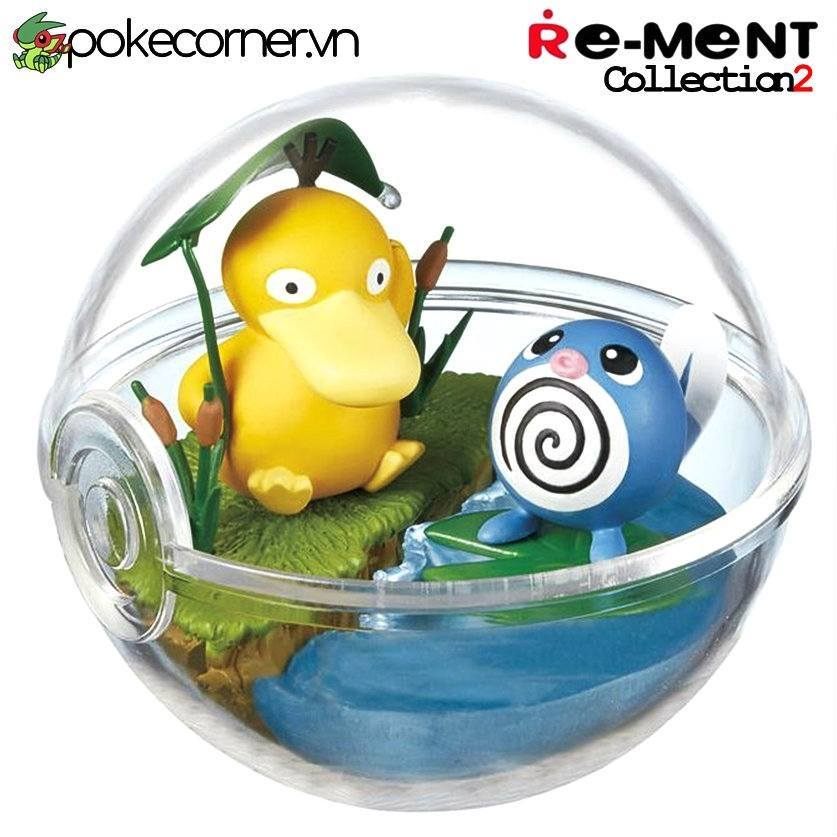 Quả Cầu Pokémon Re-Ment Pokémon Terrarium Collection 2 - Psyduck & Poliwag