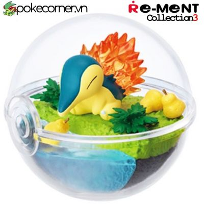 Quả Cầu Pokémon Re-Ment Pokémon Terrarium Collection 3 - Cyndaquil