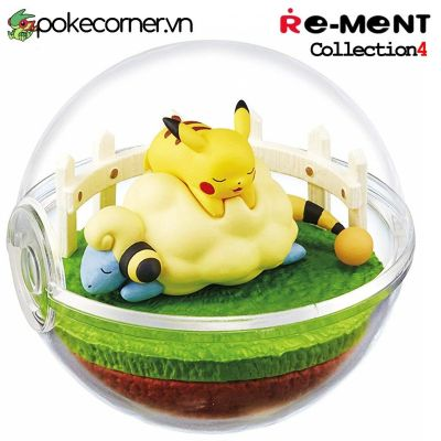 Quả Cầu Pokémon Re-Ment Pokémon Terrarium Collection 4 - Pikachu Mareep
