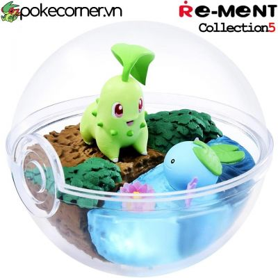 Quả Cầu Pokémon Re-Ment Pokémon Terrarium Collection 5 - Chikorita & Wooper