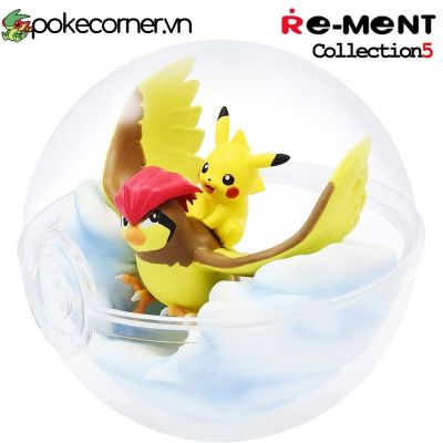 Quả Cầu Pokémon Re-Ment Pokémon Terrarium Collection 4 - Pikachu & Pidgeotto