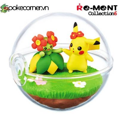 Quả Cầu Pokémon Re-Ment Pokémon Terrarium Collection 6 - Pikachu & Bellossom